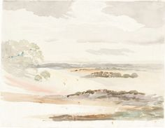 Cornelius Varley - An Extensive View in Shropshire, 1803.  Watercolour over graphite on wove paper, 25.2 x 32.2 cm