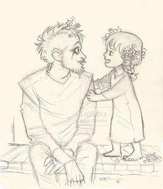 Vikings series inspired Dad and daughter art , Floki & Angrboda sketches ^-^ Lagertha Lothbrok, Floki, Vikings Show, Vikings Tv Series, Viking Art, Viking Warrior, Viking Tribes, Gustaf Skarsgard, Character Art