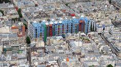 Vista aérea del Centro Pompidou en 2010.