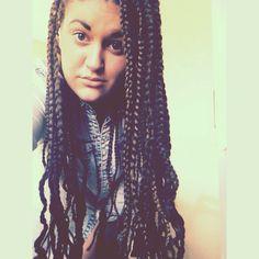 White girl with box braids