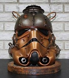 Steampunk Stormtrooper helmet=Awesome!