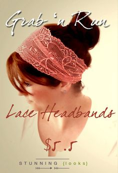 Grab 'n Run with one of our simple Lace Headbands by stunninglooks, €4.15