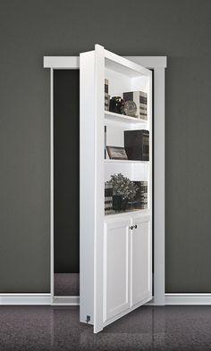 """Amazon.com - Hidden Door Book Case Flush Mount 36"""" Paint Grade - Bookcases"""