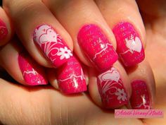 Cici & Sisi 01 and BuNa-B #ciciandsisi #bunnynailsplates #adeleverweynails  #heartnails #lovenailart #wordsnails #holostamping #repost #stamping #nailsoftheday #nailpolishaddict #stampingart  #nailartwow #dreamnails
