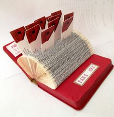 upcycled business card holder...i love this idea!
