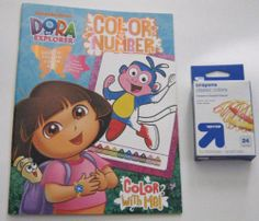 Dora the Explorer Color By Number Coloring Book Plus Pack of 24 Crayons Color Me http://www.amazon.com/dp/1621916545/ref=cm_sw_r_pi_dp_G1yStb1DWPWFV4V1