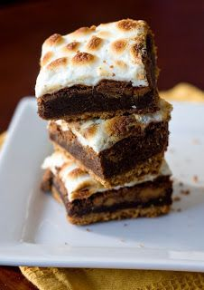 Peanut Butter S'more Brownies - YUM.