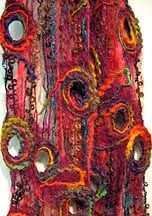 holey tree bark scarf nuno felt - Dit doet me zo aan mijn opleiding Textiel denken.