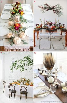 10 Fall Tablescapes