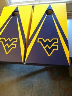 West Virginia Vinyl Board, Board Art, Cornhole Designs, Corn Hole Game, Bag Toss, Yard Games, Cornhole Boards, Silhouette Cameo Projects, Board Ideas