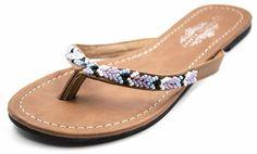 d9d4dfa6f0d793 Charles Albert Women s Boho Beaded Thong Sandals    Don t get left behind