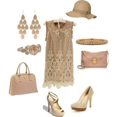 how to accessorize a beige dress - Google Search