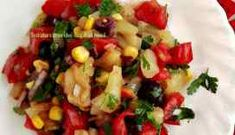 Salata cu ardei copti si rosii Kung Pao Chicken, Fruit Salad, Ethnic Recipes, Food, Essen, Fruit Salads, Yemek, Meals