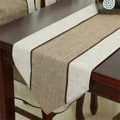 Modern Minimalist Style Retro Cloth Table Runner New Chinese Classic Coffee Table Flag Solid Table Mat