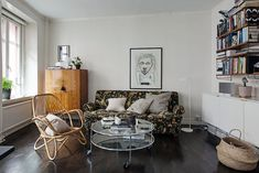Small Apartment in Sweden Is a Contemporary Urban Oasis - http://freshome.com/small-apartment-sweden-urban-oasis/