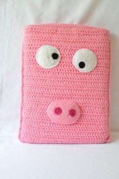 Pig Laptop Cover.  via Etsy.