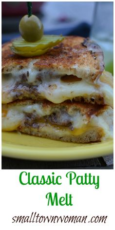 Patty Melt Recipe Pinterest'te   Patty Melts, Sandviçler ve Burgerler ...