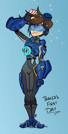 I am back from Japan! Gotta get unrusty, so I did a quick doodle of the new Tracer skin, the hat is my favorite bit. I recently got a job at a advertising company and now that my Japan trip i...