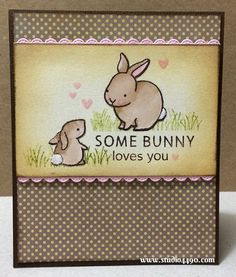 Lawn Fawn - Hello Baby, Stitched Scalloped Border Lawn Cuts die _ super sweet Some Bunny Loves You card by Kylie via Flickr - Photo Sharing!