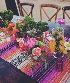 "Love these table runners for any event, dinner party, or a fun way to decorate a space. Compliments well with some beautiful succulents, cacti, and unique glass bottles. Straight from the mountains of Mexico add some mexicali vibes to your space! 72""L by 24""W Made in Mexico Handwoven *Can be used as a shall or wrap as well :)"
