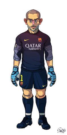 Victor Valdes FC Barcelona / Real Madrid by Sakiroo Choi, via Behance Animated Man, Messi, Football Memes, Basketball Players, Fc Barcelona, Real Madrid, Behance, Illustration, Artwork