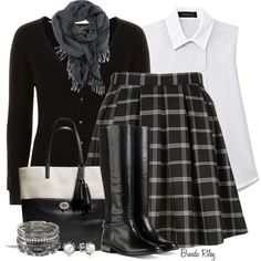 """""""Skirt & Boots"""" by brendariley-1 on Polyvore"""
