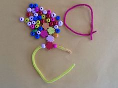 I have seen some larger beads at Keegstra Dollar Store and there should be pipe cleaners there too.