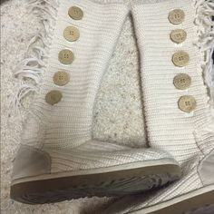 UGG boots Worn ugg boots size 8.5! Some cosmetic work needs done, but nothing a quick wash or product can't fix! UGG Shoes Ankle Boots & Booties
