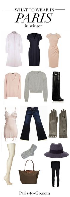 What to pack for / wear in Paris in Winter: A warm, simple capsule wardrobe
