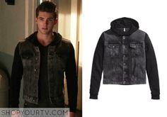 TEEN WOLF: SEASON 5 EPISODE 7 THEO'S Black Hooded Denim Jacket