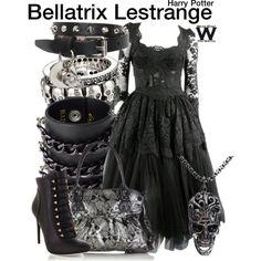 Inspired by Helena Bonham Carter as Bellatrix Lestrange in the Harry Potter film franchise.
