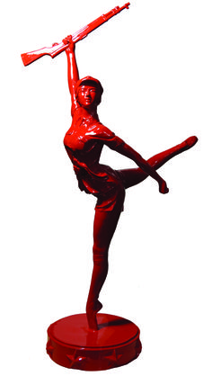 Huang Gang 黃鋼 The Red Era 红色年代 Cast bronze sculpture, Edition 35 of 85 x 23 x 54 cm, 2009 Bronze Sculpture, It Cast, Red, Image