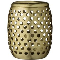 Day Birger Et Mikkelsen Brass Votive - Latticed with Holes - 10x12cm (£36) ❤ liked on Polyvore featuring home, home decor, candles & candleholders, metallic, brass candle, day birger et mikkelsen, brass home decor and metallic candles