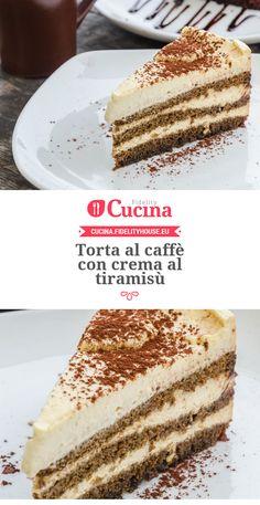 Torta al caffè con crema al tiramisù