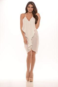 Sling Shot Dress (Ivory) - $26.99 #FashionNova #Dress