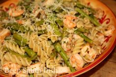 Skillet Shrimp and Pasta with Asparagus