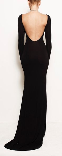 V-back maxi. I wouldn't have the confidence to wear this but it is so elegant and beautiful!!!! Love it!