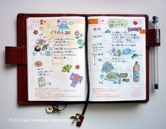 Inspiring sample pages from one of many planner sites. It is vast, borderline Byzantine, the world of planners and notebooks. Life Journal, Journal Pages, Bullet Journal, Journal Art, Art Journaling, Smash Book, Journal Inspiration, Journal Ideas, Hobonichi Techo