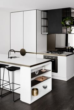 3 Astounding Cool Ideas: Colorful Minimalist Home Tiny House minimalist interior bathroom simple.Minimalist Home Architecture Glass Walls minimalist kitchen tiny apartment therapy. Best Kitchen Designs, Modern Kitchen Design, Interior Design Kitchen, Room Interior, Kitchen Furniture, Kitchen Decor, Kitchen Ideas, Cheap Furniture, Furniture Websites