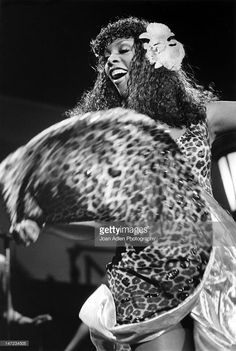 Donna Summer in concert at the Universal Amphitheatre on August 10,...