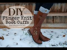▶ DIY Finger Knitting - 30 Minute Boot Cuffs - YouTube...@Courtney Baker Vesely maybe we need to add this to our craft day!