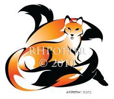 Golden Kitsune by RHPotter on deviantART