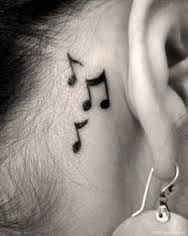 Image result for simple music tattoos for girls