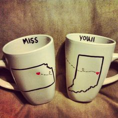 Best friend Mugs <3 Melissa and I are making these :) gonna miss her so much!!