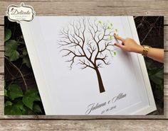 *** ÁRVORE DE DIGITAIS PERSONALIZADA ***    --- Novidade para casamentos, chá de bebê, chá bar e eventos.    --- Árvore de Digitais, um moderno livro de assinaturas. Separe um lugar especial na sua casa para colocar esse lindo quadro de árvore, cujas folhas serão as impressões digitais de todos a...