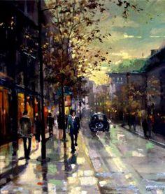 """Saatchi Online Artist: Eva Czarniecka; """"London Street"""""""