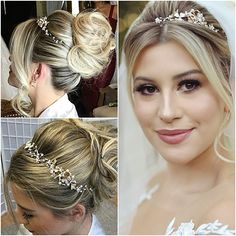 80 Bob Hairstyles To Give You All The Short Hair Inspiration - Hairstyles Trends Simple Bridal Hairstyle, Bridal Hair Updo, Bridal Tiara, Tiara Hairstyles, Bob Hairstyles, Wedding Hairstyles, Bridal Hair Inspiration, Glamour Makeup, Jheri Curl
