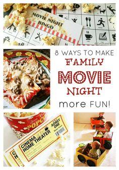 Make Family Movie Night More Fun at B-InspiredMama.com
