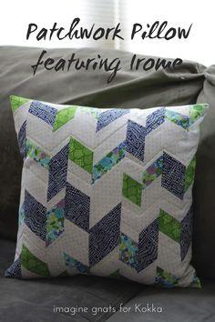 sewing: patchwork pillow for Kokka || imagine gnats