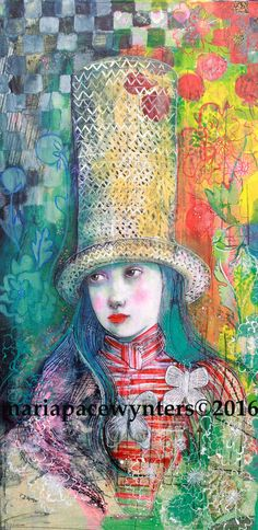 Walking Through Wonderland- Original mixed media painting by Maria Pace-Wynters by MariaPaceWynters on Etsy https://www.etsy.com/listing/267348444/walking-through-wonderland-original